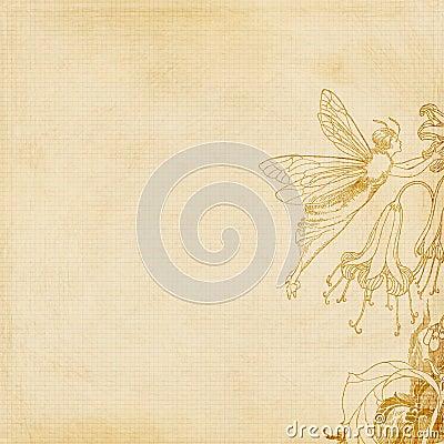 Czarodziejski tło kwiat