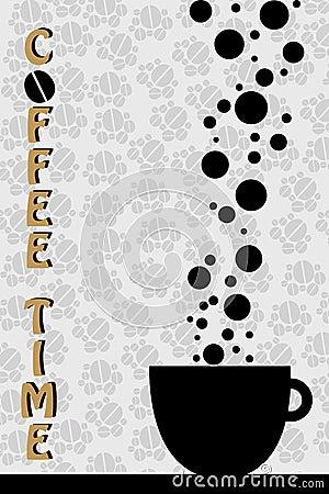 Czas kawowy wektor