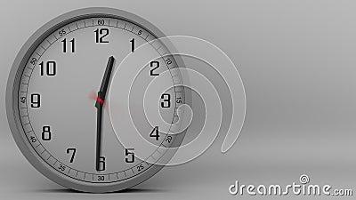 Czasu upływ popielaty zegarowy mierzyć z 60 minut (1 godzina) 4k materiał filmowy zbiory wideo