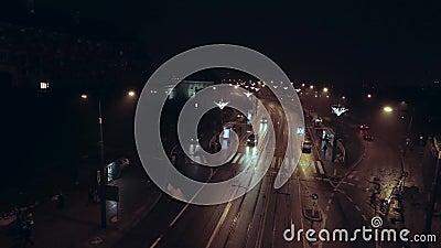 Czasu upływ ulicy wschód - europejski kapitał przy nocą zbiory
