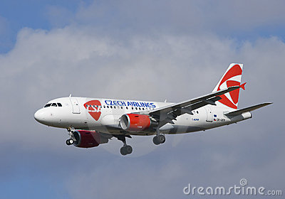 Czech airlines aircraft Editorial Photo