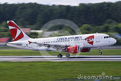 Czech Airlines Fast Editorial Photography