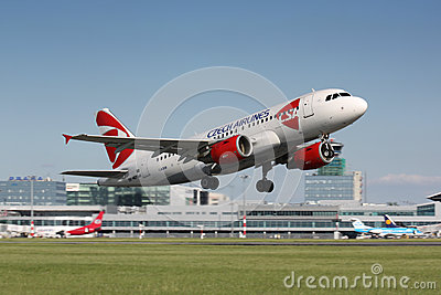 A320 Czech Airlines Editorial Photo