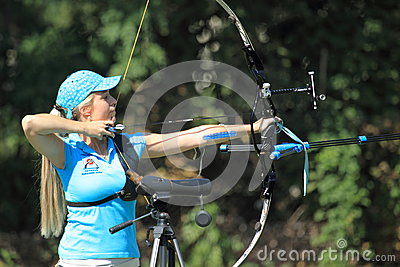Czech archery championship 2012 Editorial Photography