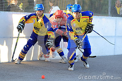Czech ball hockey extraleague Editorial Photo