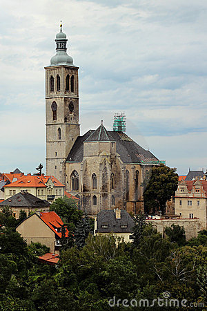 Czech church of Saint Jacob in Kutna Hora