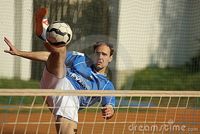Czech footballtennis extraleague - Lubomir Gryc Editorial Photography