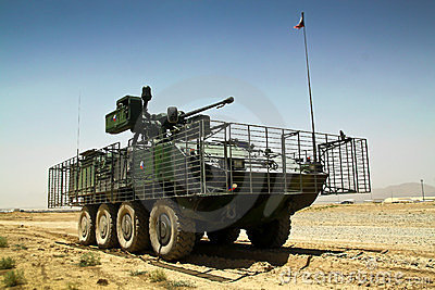 Czech heavy armored vehicle Pandur in Afghanistan Editorial Photo