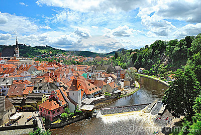 Czech Krumlov Editorial Photo