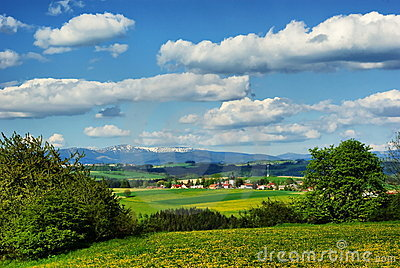 Czech Landscape (Krkonose mountain behind)