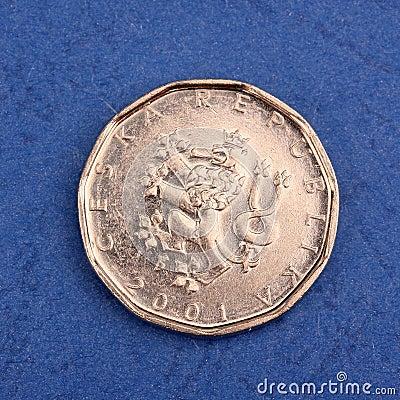 Czech metal coin