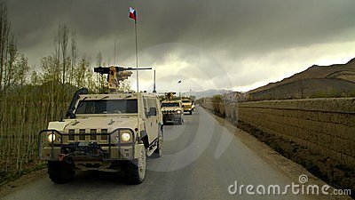 Czech Military Vehicles in Afghanistan