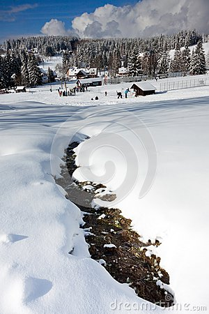 Free Czech Mountains In Winter Royalty Free Stock Images - 29551239