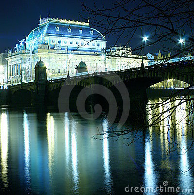 Free Czech National Theatre Stock Image - 3891921