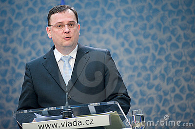 Czech prime minister Petr Nečas Editorial Stock Image