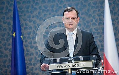 Czech prime minister Petr Nečas Editorial Photo