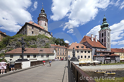 CZECH REPUBLIC-CESKY KRUMLOV, The Castle Editorial Photography