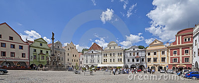 CZECH REPUBLIC-CESKY KRUMLOV, The Svornosti square Editorial Photo
