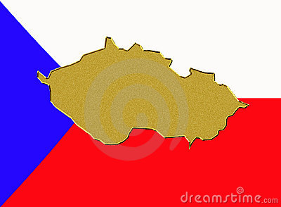 Czech Republic flag and map
