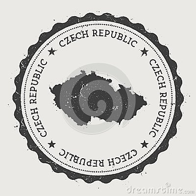 Free Czech Republic Hipster Round Rubber Stamp With. Stock Image - 100379881