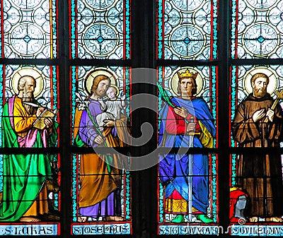 Czech Republic, Prague: stained glass