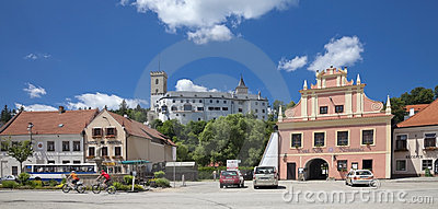 CZECH REPUBLIC - ROZMBERK CITY, The Main Square Editorial Stock Photo