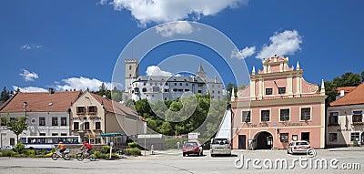 CZECH REPUBLIC - ROZMBERK CITY, The Main Square Editorial Stock Photo