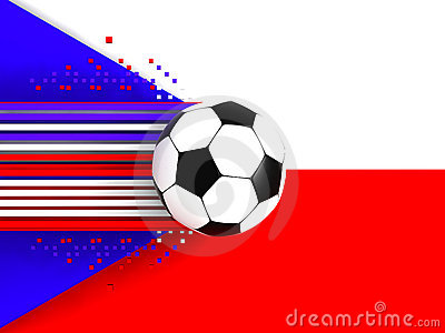 Czech Republic soccer flag