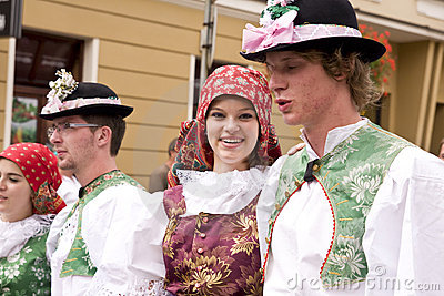 Czech Republic traditional folk group Editorial Stock Image