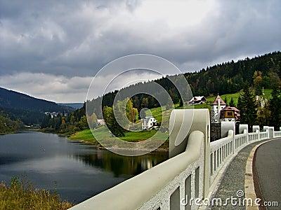 Czech Republic-dam on the river Elbe