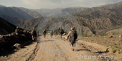 Czech Soldiers in Logar Province, Afghanistan Editorial Image