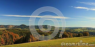 Czech summer mountains panorama