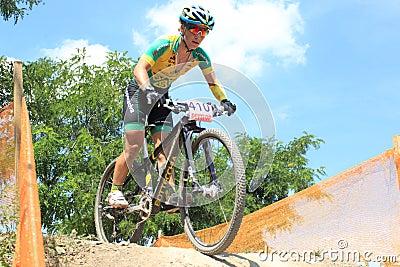 Czech women MTB cross country Editorial Image