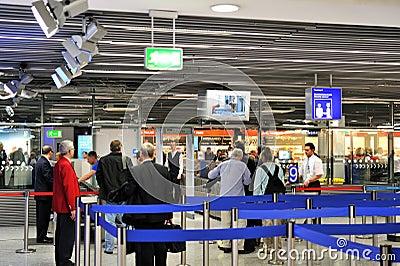 Czek lotniskowy proces Obraz Stock Editorial