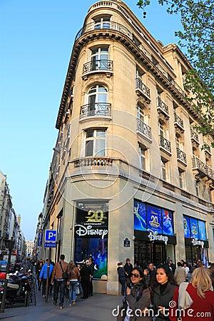 Czempionów Disney elysees sklep Zdjęcie Editorial