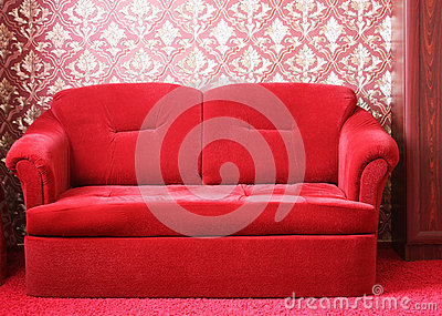 Czerwona kanapa