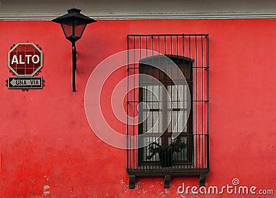 Czerwone ściany