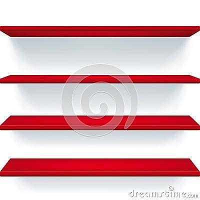 Czerwone półki
