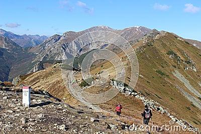 Czerwone Wierchy, Tatra Mountains, Poland Editorial Stock Image