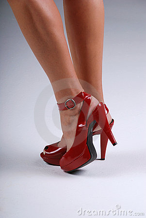Czerwoni seksowni buty