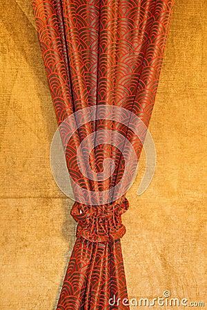 Czerwony draperii
