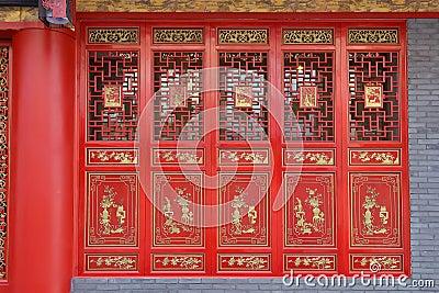 Czerwony drzwi