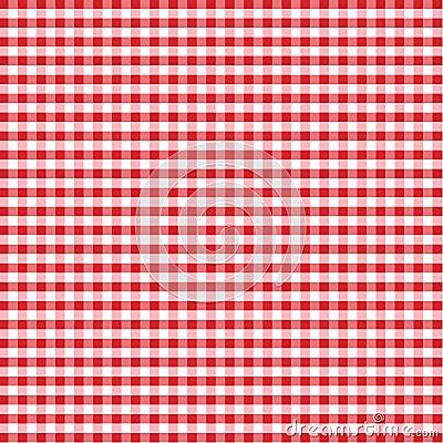 Czerwony gingham bezszwowa