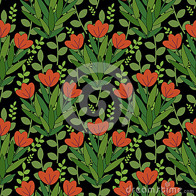 Czerwony kwiatu wzór