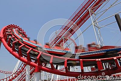 Czerwony migania kabotażowiec