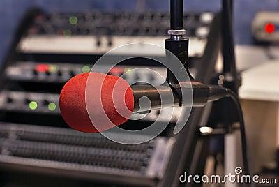 Czerwony mikrofonu
