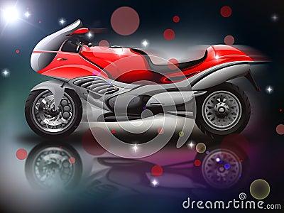 Czerwony motocykl