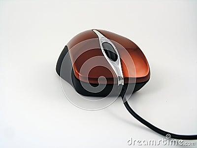 Czerwony optyczne myszy błyszczący