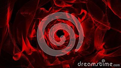 Czerwony Organicznie Falisty Tunelowy Abstrakcjonistyczny animaci tło