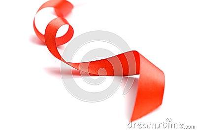 Czerwony tasiemkowy atłas